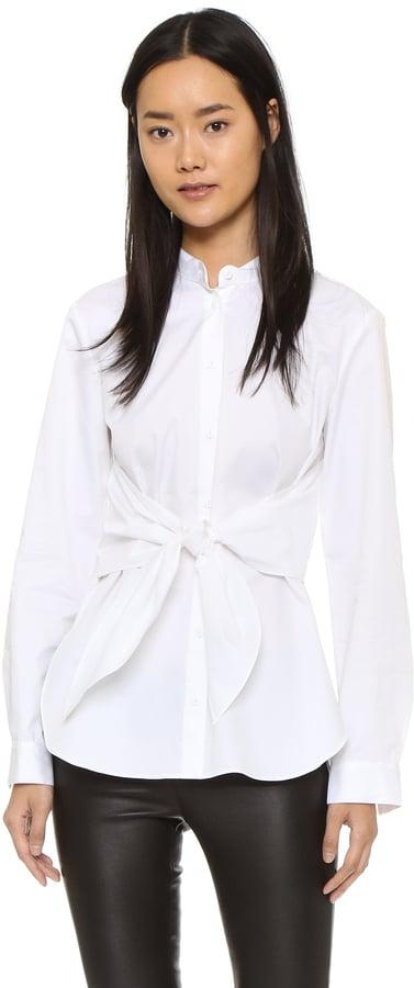 Tibi Poplin Front Cape Tie Shirt ($295)