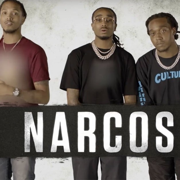 Migos Reading Narcos Mexico Scene Video Popsugar Entertainment