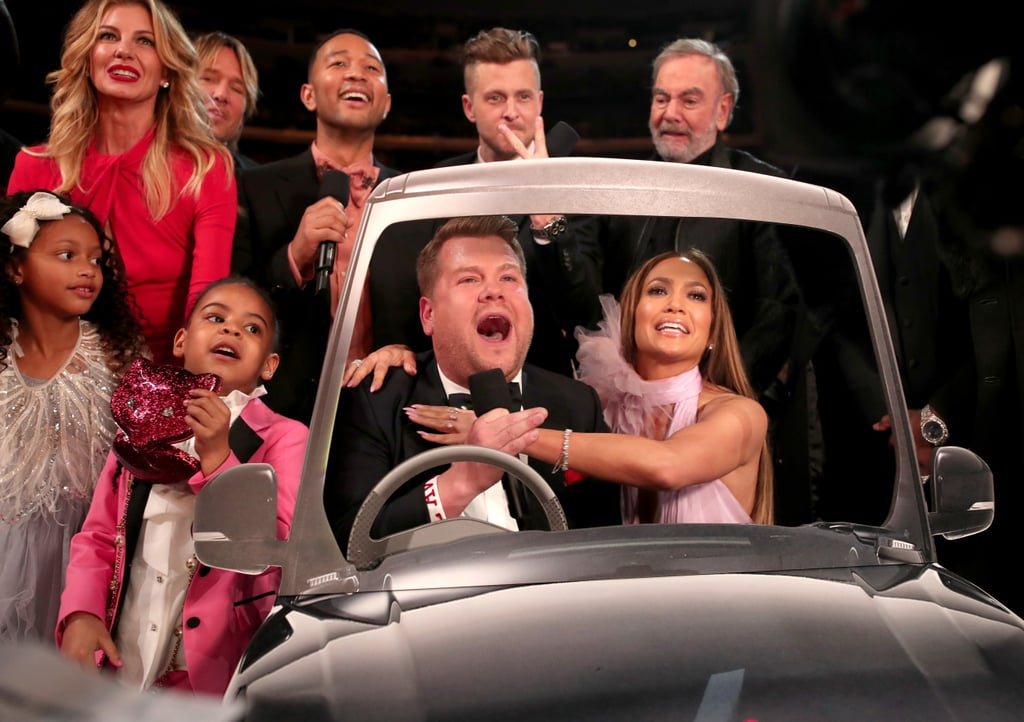 Pictured: Jennifer Lopez, James Corden, Faith Hill, and Blue Ivy Carter