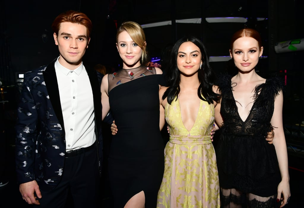 Pictured: KJ Apa, Lili Reinhart, Camila Mendes and Madelaine Petsch