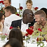 With Victoria Beckham and Edward Enninful.