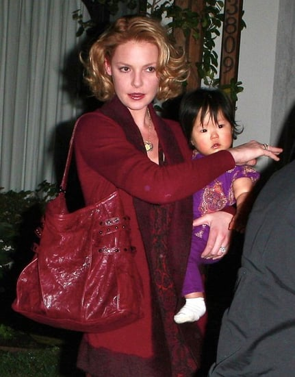Katherine Heigl at her sister's baby shower with baby Naleigh