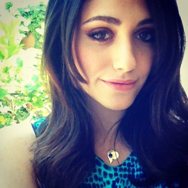 Emmy Rossum showed off a sultry makeup look. Source: Instagram user emmyrossum