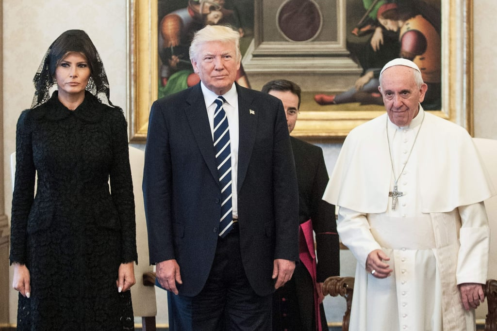 Melania Trump Wears Dolce and Gabbana to the Vatican