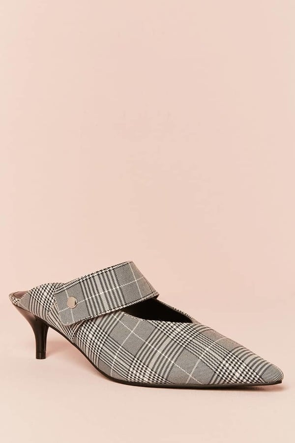 Forever 21 Striped Bow Mules