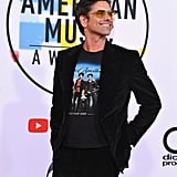 John Stamos Wearing Jonas Brothers T-Shirt at 2018 AMAs