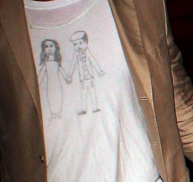 Did Brad Pitt's Kids Make Him This Adorable T-Shirt?