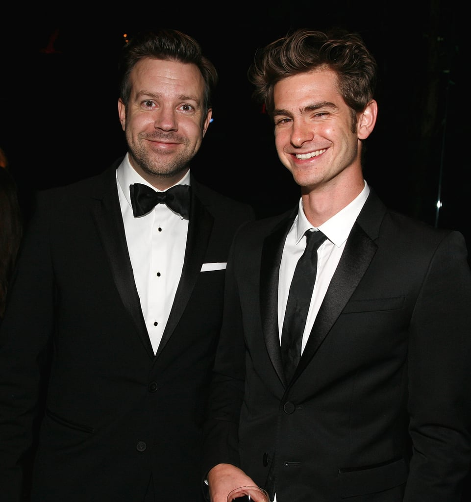 Jason Sudeikis and Andrew Garfield at the Museum of Natural History gala.