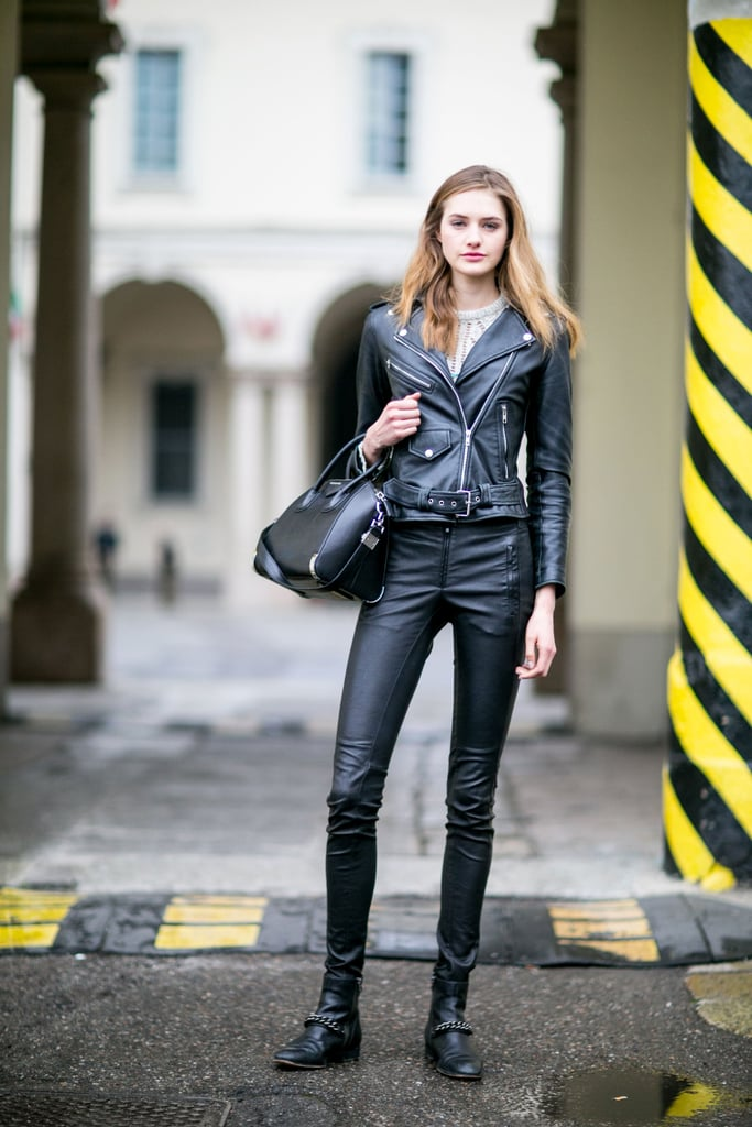 Model Street Style at Fashion Week Fall 2016