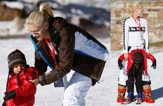 Photos of Gwen Stefani, Gavin Rossdale, and Kingston Rossdale Skiing in Utah