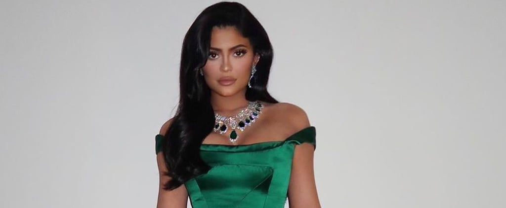 Kylie Jenner Emerald Christmas Dress With Stormi