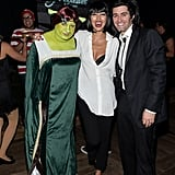 Matthew Morrison and Renee Puente got a kick out of Colton Haynes's Shrek-inspired costume.