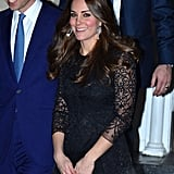Kate's Swinging Earrings Played Up the Pattern of Her Beulah London Dress