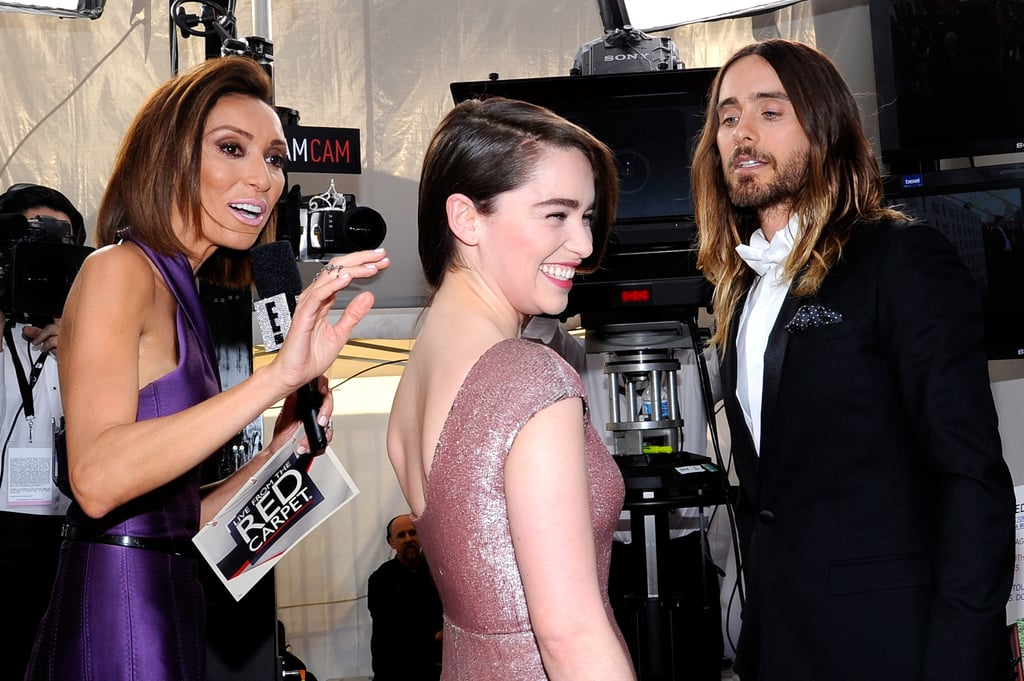 22. Jared Leto Flirts With Emilia Clarke