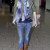 Gwyneth Heads Home to London Following Some Noisy Fun With Her Big Apple Pals