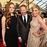 Sophie Turner (Sansa Stark) With Julie Bowen and Jesse Tyler Ferguson