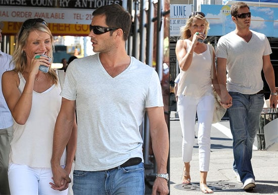 Photos of Cameron Diaz and Her Boyfriend Model Paul Sculfor in NYC