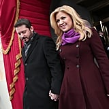 Kelly Clarkson arrived at the inauguration hand in hand with Brandon Blackstock.
