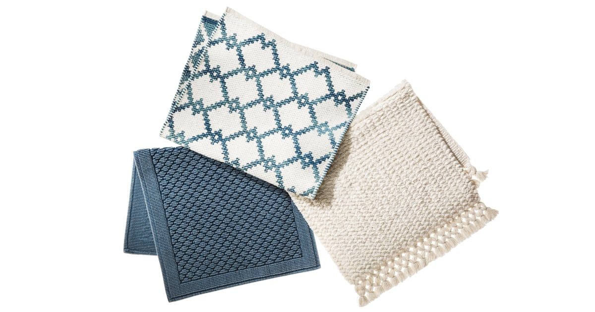 Blue Woven White And Blue Diamond White Woven Bath Mat 25 Hide Your Credit Cards You Ll Want To Go All Out For Target S New Fall Threshold Collection Popsugar Home Photo 33