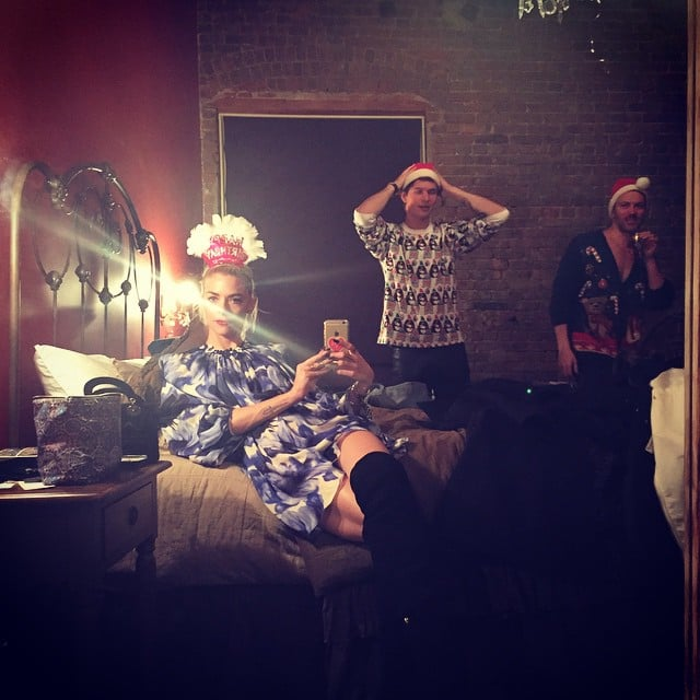 Yep, that's Jaime King in Taylor Swift's bed and Ansel Elgort in her bedroom in 2014. This is one of those random moments that could only happen at a Taylor Swift party.