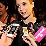 Emma Roberts at Jill Stuart.