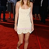 Kate showcased her gorgeous gams in a slinky printed dress at a September 2003 Hollywood premiere.