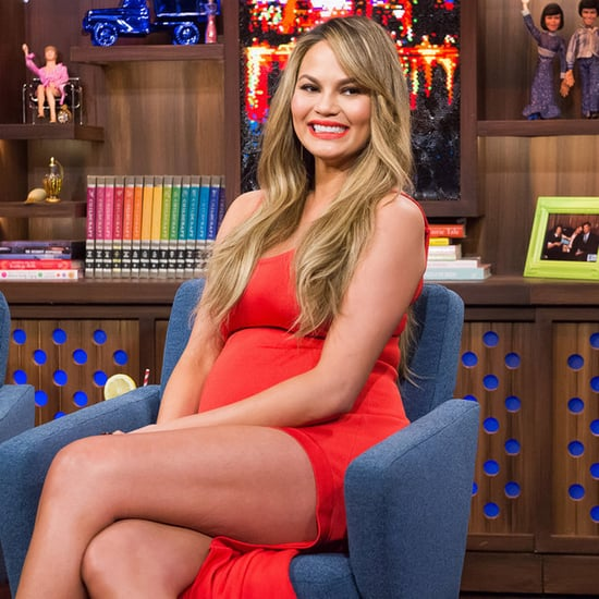 Chrissy Teigen Barbara Bui Dress on Watch What Happens Live
