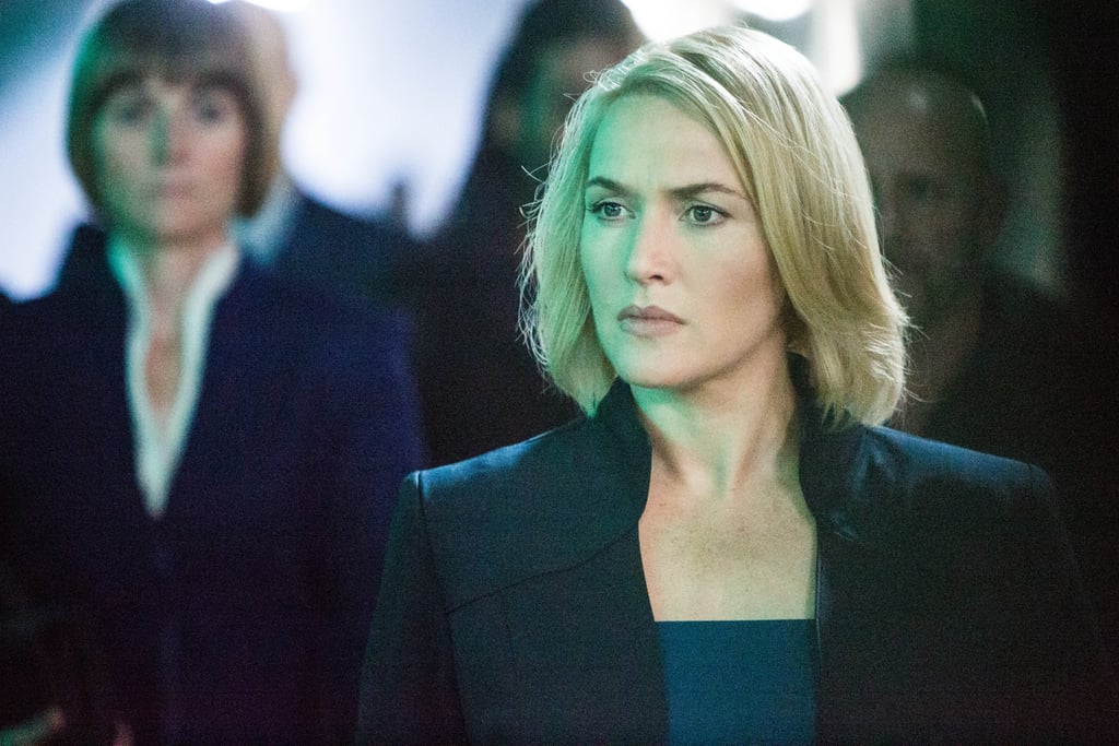 Kate Winslet as the cold Jeanine Matthews.