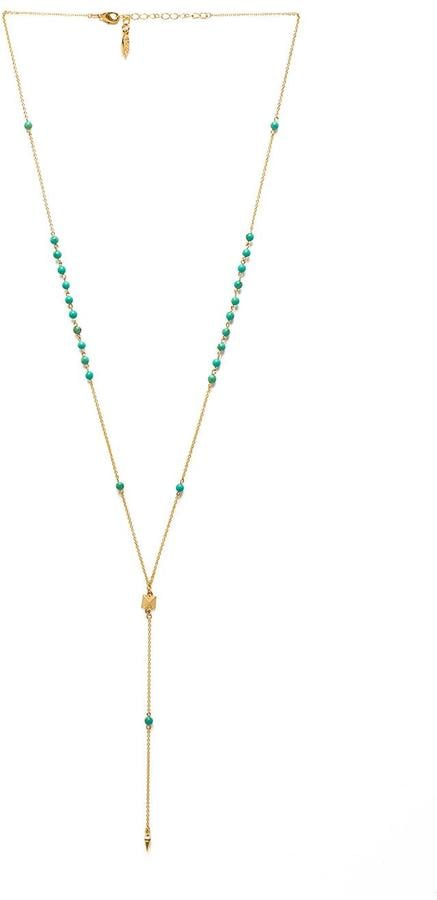 Ettika Dainty Pyramid Lariat With Beads