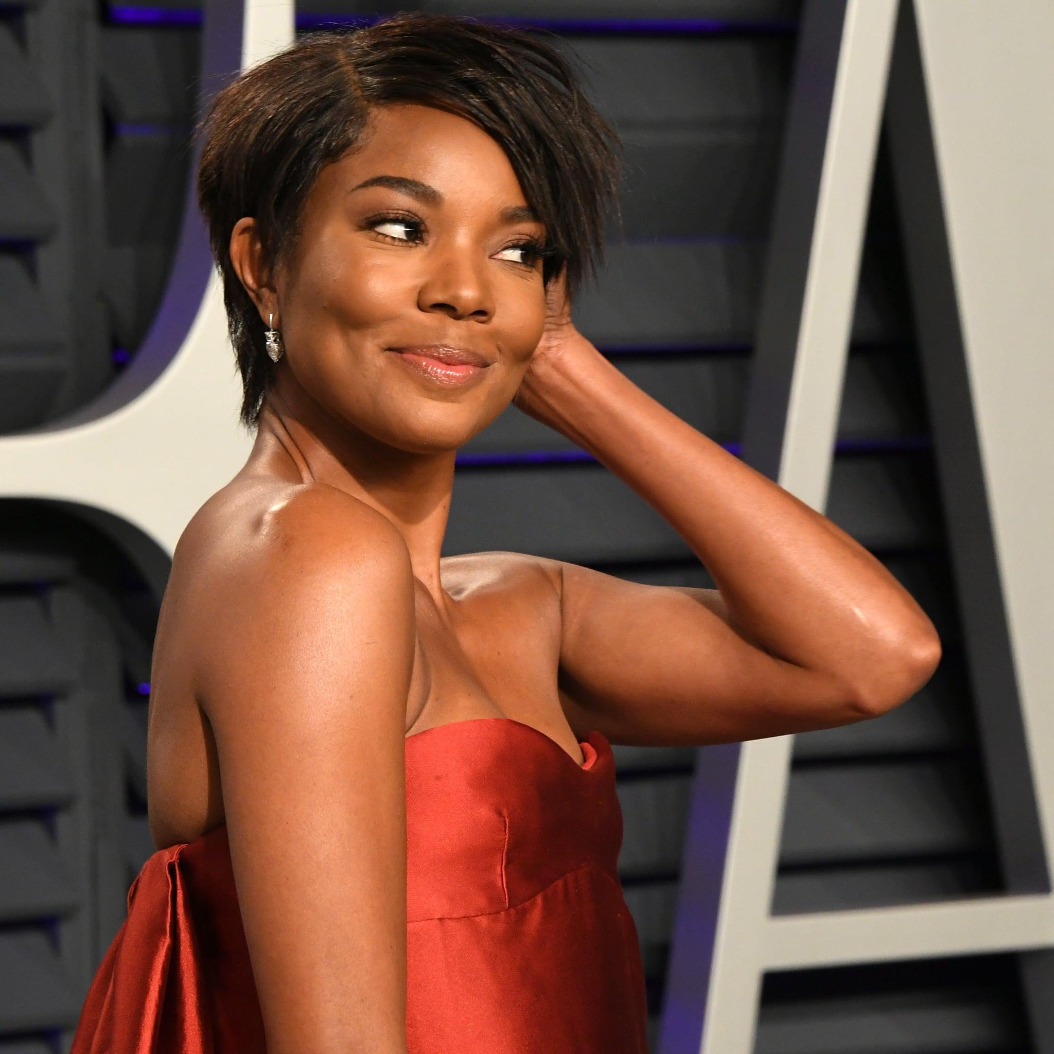 Gabrielle Union S Short Hair 2019 Vanity Fair Oscars Party Popsugar Beauty