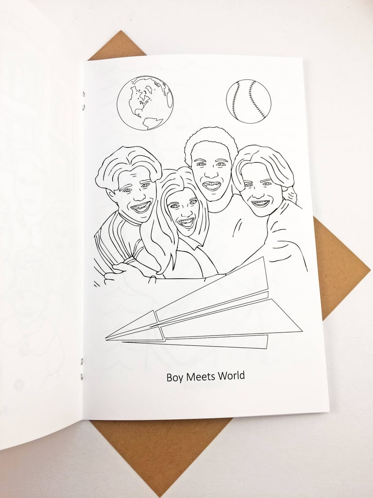 90s Tv Show Coloring Book Gifts For Boy Meets World Fans