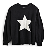 Star Print Balloon-Sleeve Sweater