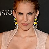 At the BAFTA LA TV Tea, Anna Chlumsky wore a low ponytail to show off her dramatic yellow earrings.