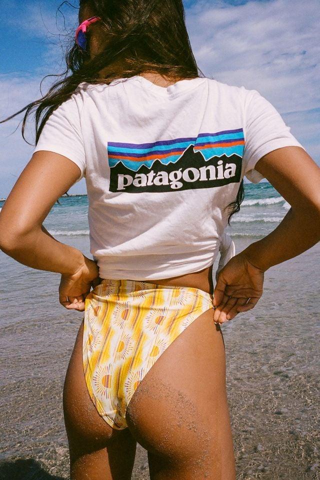 Out From Under Heidi Printed High-Cut Bikini Bottom