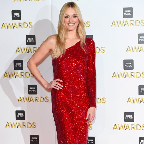 Fearne Cotton in Red Sequinned Dress at the BBC Music Awards