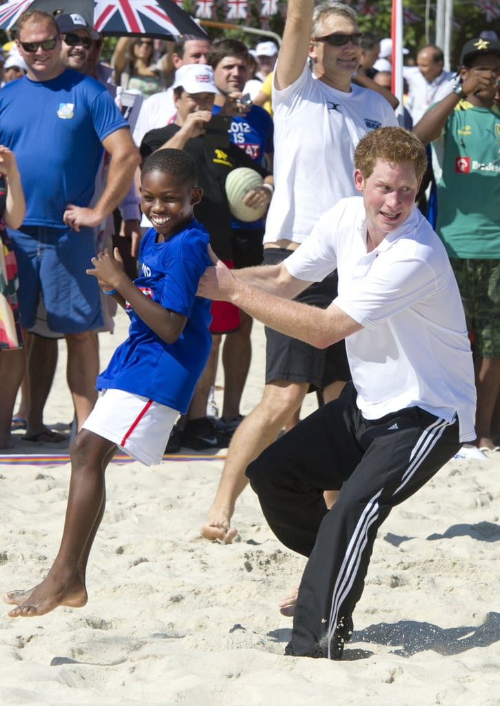 When He Displayed Some Unorthodox Tactics During a Game of Beach Rugby in Brazil