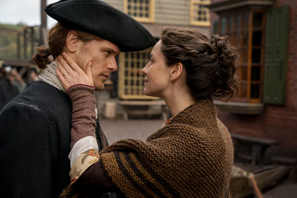 When Outlander returns for a fourth season — and a fifth and sixth, for that matter — I have to admit I'll be a little sad we're no longer going to see Claire (Caitriona Balfe) and Jamie (Sam Heughan) romping around the Scottish Highlands or pulling off feats of espionage in Paris while dressed in French couture. That being said, the brief glimpses we've gotten of their new life in America certainly seem promising.   Starz's time-traveling historical romance is set to return on Nov. 4, and will presumably follow the story in Diana Gabaldon's fourth book, Drums of Autumn. The new episodes will see everyone's favorite reunited couple making a new life in North Carolina (because Jamie's aunt, Jocasta, lives there), and their story will take a number of exciting new twists and turns. First and foremost is the introduction of a wily new villain, Stephen Bonnet. When they're not dealing with him, however, we'll get to see our favorite couple relishing in their domesticity, as well as taking on Native American ghosts and bear fights. Pretty standard problems for them.  What might be most exciting is the big meeting between Jamie and his daughter, Bree. That's right — she'll hopefully travel from Boston to the stones so she can go back in time and reunite with her parents. Take a look at all the season four photos, ahead!      Related:                                                                                                           10 Shows to Watch If You Love Outlander