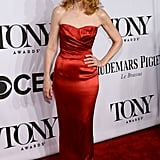 Patricia Clarkson wore a stunning red dress.