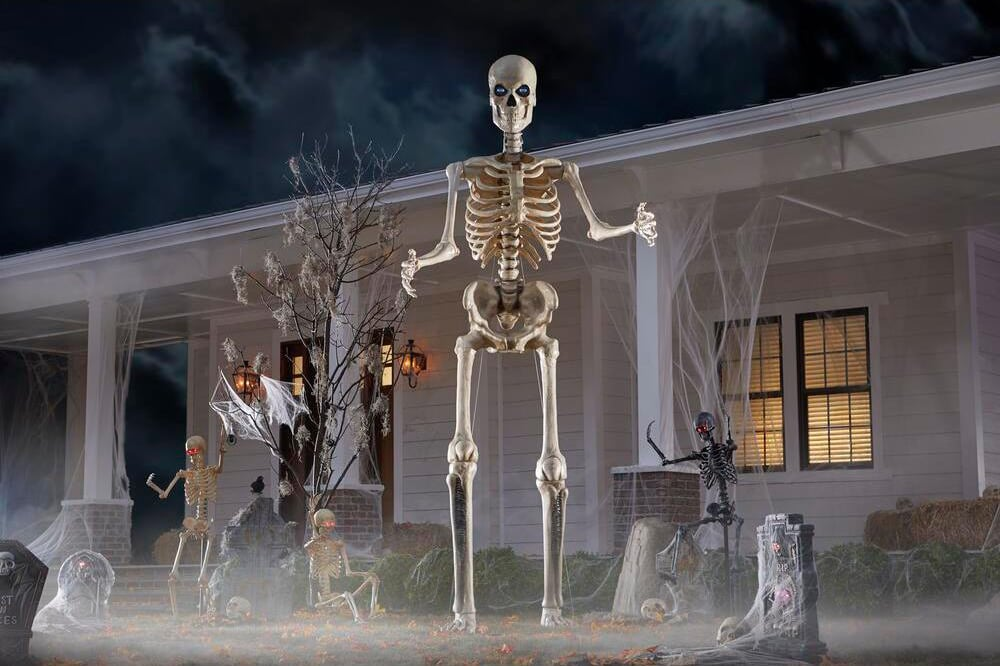 The Home Depot Is Selling a 12-Foot Skeleton Decoration
