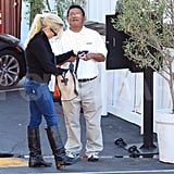 Reese Witherspoon picked up her car from the valet.