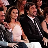 Javier sat with Penélope at the Goya Awards in February 2010 in Madrid.
