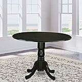"DLT-BLK-TP Round Table With 29"" Drop Leaves"