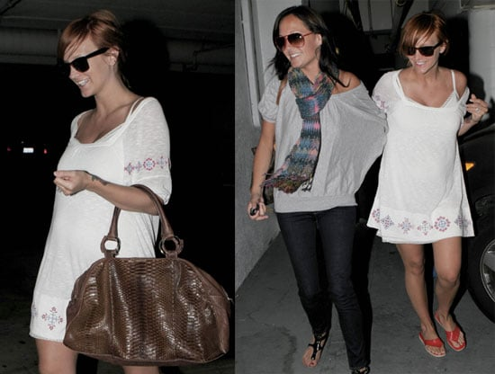 Photos of Pregnant Ashlee Simpson at Chin Chin in LA