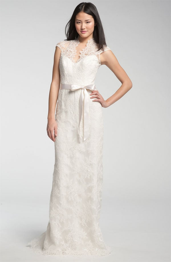 Theia Lace Overlay Cap-Sleeve Gown ($1,995)