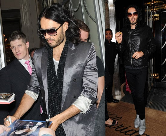Pictures of Russell Brand in London and Dublin Wants to Do a Show With Jonathan Ross After Manuelgate