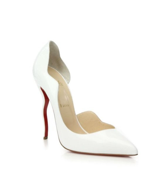Christian Louboutin Dalida Wavy Patent Leather D'Orsay Pumps ($945)
