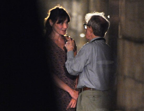 Pictures of Carla Bruni and Woody Allen Filming in Paris
