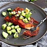 Blackened Salmon With Cucumber-Avocado Salsa
