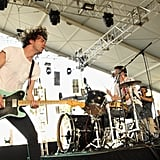 Brian King and David Prowse from Japandroids rocked back and forth on stage during their set.