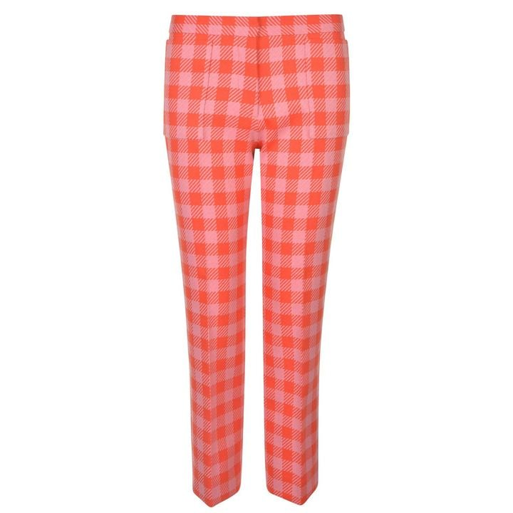 Victoria by Victoria Beckham Acid Gingham Trousers